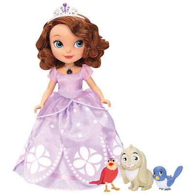 99BJP67 Говорящая кукла София 25 см с кроликом и птичками София Прекрасная Mattel