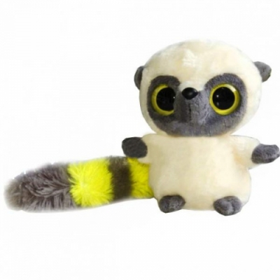 990057 Мягкая игрушка Лемур Юху желтый 12 см Aurora