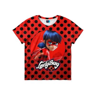 39710 Детская футболка 3D «Леди баг и супер Кот»
