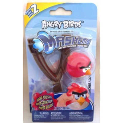 990201 Рогатка с игрушкой мялкой Angry Birds