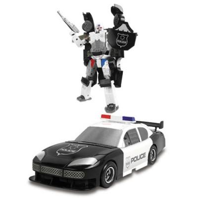 """*80030 Игрушка Робот-трансформер Машина Полиция X-Bot - 8"""" 20 см Happy Well"""