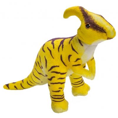 0076 Мягкая игрушка динозавр Паразауралоф желтый 25 см Абвгдейка
