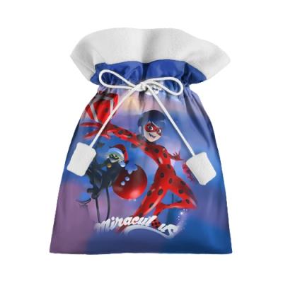 39712 Подарочный 3D мешок «Новогодняя леди Баг»