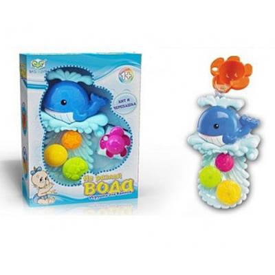 """EQ80015R Игрушка для ванной """"Кит и черепашка"""""""