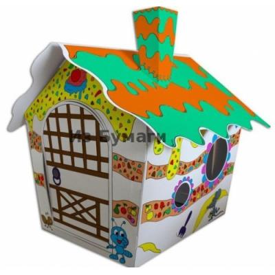 """997442 Ягодный домик большой из картона """"Раскрась сам!"""" Strawbbery House"""