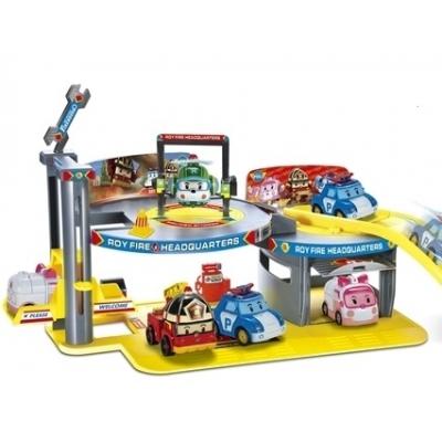 **XZ-155 Игровой набор Пожарная станция (Штаб-квартира Роя) Roy Fire Headquarters Робокар Поли