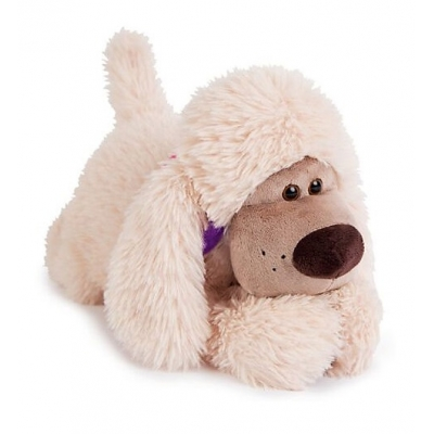 99314 Мягкая игрушка собака Пудель Персик 30 см Budi Basa