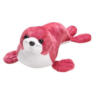 *BP0016 Мягкая игрушка Морской котик коралловый 45 см Абвгдейка