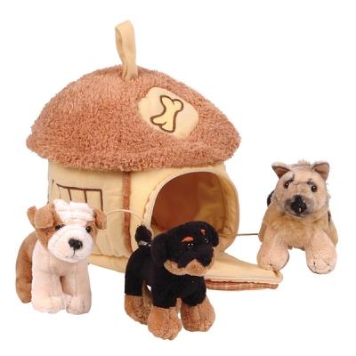 992191 Мягкая игрушка Домик-сумка с тремя собачками Gulliver