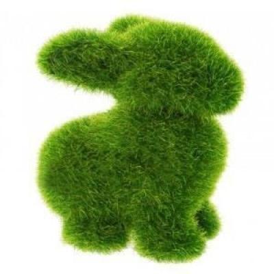 "6541 ЭКО-игрушка из травы ""Зайчик"" 12х12 см"