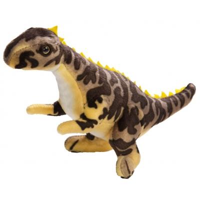 0068 Мягкая игрушка динозавр Цератозавр коричневый 25 см Абвгдейка