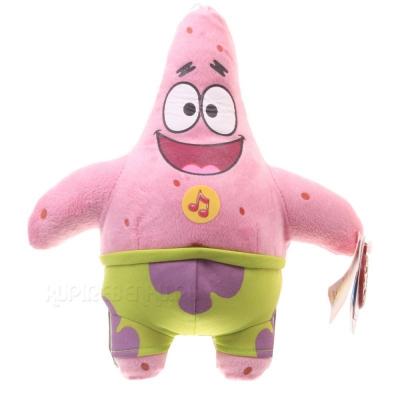 99289 Мягкая игрушка Патрик со звуком 24 см Губка Спанч Боб Мульти-Пульти