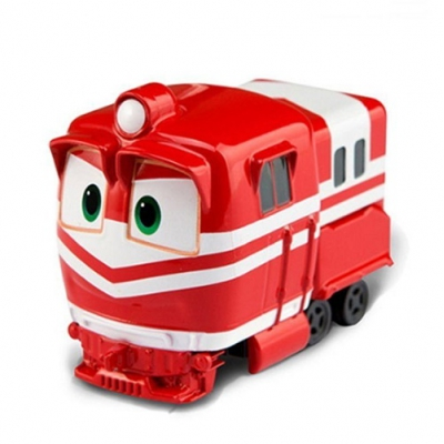 *ZY-633A Игрушка машинка инерц Альф Alf Робо Поезд красный Robot Trains