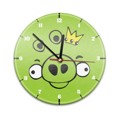 99817 Настенные часы с текстурой Angry Birds