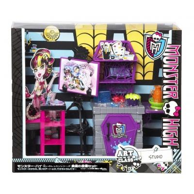 *BDD83 Студия с мебелью Дракулауры Художественный класс Монстер Хай Mattel