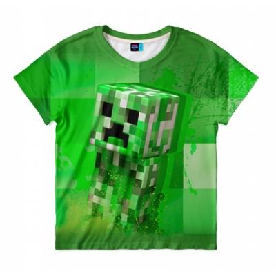 99871 Футболка детская Крипер Майнкрафт Creeper Minecraft