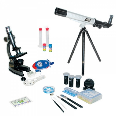 TM008 Набор оптический ( микроскоп + телескоп)