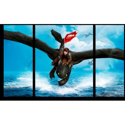 """999165 Модульная картина для детской """"Как приручить дракона. Икинг и Беззубик"""""""