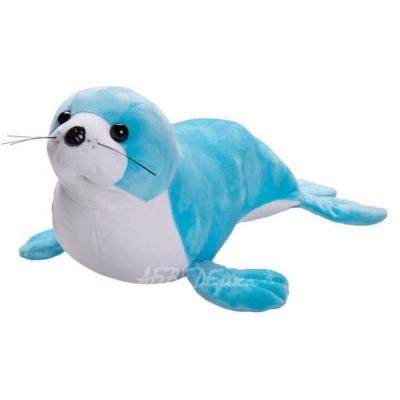 *BP0016 Мягкая игрушка Морской котик голубой 45 см Абвгдейка
