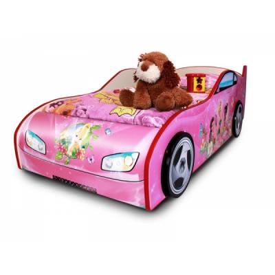 """990016 Кровать в виде машины """"Феи Tinker Bell"""""""