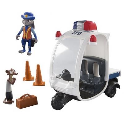 70021 Игровой набор Мотороллер с  Джуди и Хорьковиц Зверополис Zootropolis Tomy