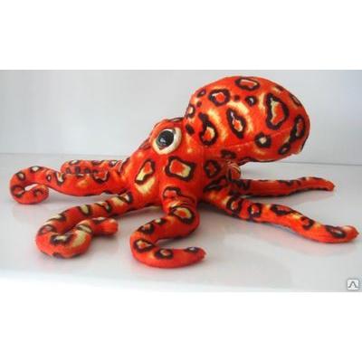 *BP0010 Мягкая игрушка Осьминог красный 36 см