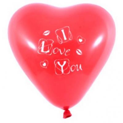 """99029 Надувные воздушные шарики Сердечки """"Я тебя люблю"""" 5 шт Everts"""