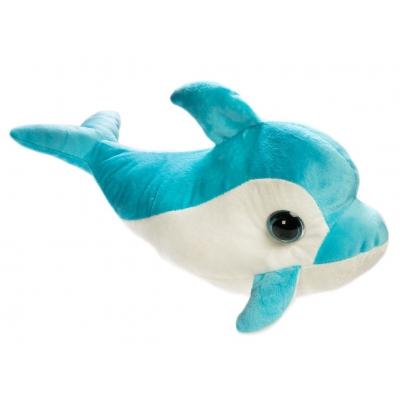 *BP0053 Мягкая игрушка Дельфин голубой Вася 40 см Абвгдейка