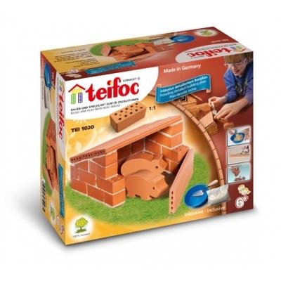 TEI1020 Строительный набор из кирпичиков Свиноферма Teifoc