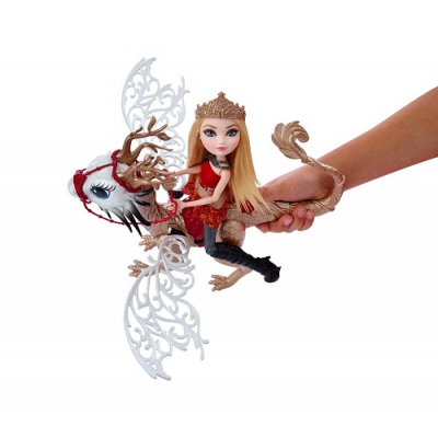 99DKM76 Кукла Эппл Вайт с драконом Игры драконов Ever After High Mattel