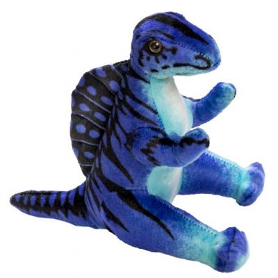 0068 Мягкая игрушка динозавр Норвежский Зубцеспин синий 25 см Абвгдейка