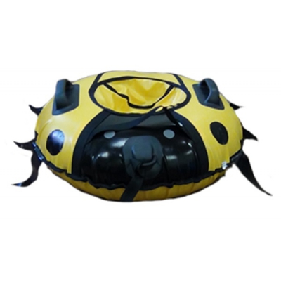 99935 Санки-ватрушка надувные Божья Коровка 80 см с камерой Тюбинг Globus