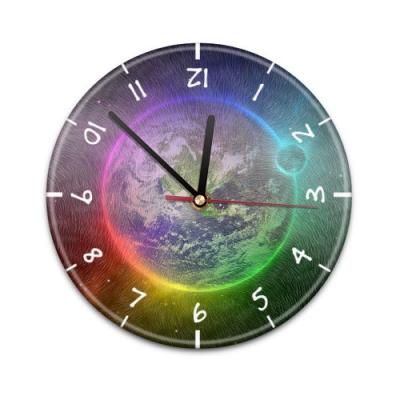 X99016V Настенные часы с текстурой Земля и Луна