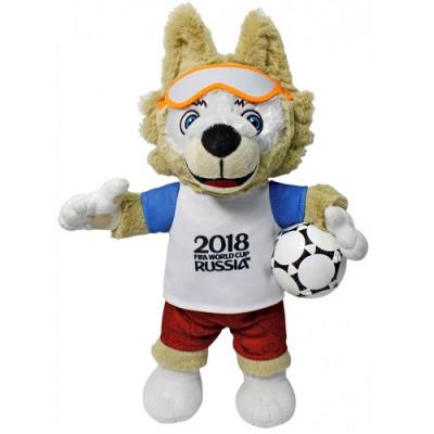 990043 Мягкая игрушка Волк Забивака 33 см Талисман Чемпионата мира по футболу 2018