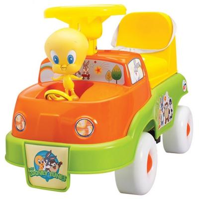06550 Машина-каталка Looney Tunes (с ручкой и подножками) Happy Well