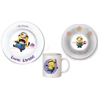 99054 Подарочный набор детской посуды 3 предмета Миньоны Гадкий Я