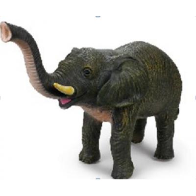 *PE046 Слон,43 см, из каучука с мягкой набивкой