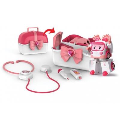 *990325 Игровой набор Кейс с трансформером Эмбер и аптечкой Робокар Поли SilverLit