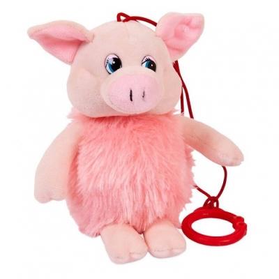 990491 Мягкая игрушка Свинка пушистая озвученная 16 см Chuzhou