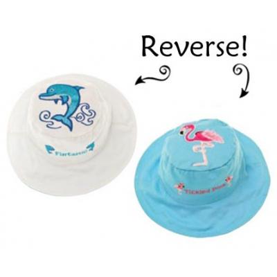 Панама детская двуxсторонняя Дельфин/Фламинго FlapJacks