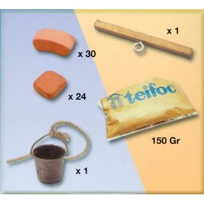 TEI1065 Строительный набор из кирпичиков Колодец Teifoc