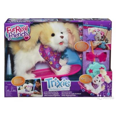 991649 Интерактивная собака Трикси на скейтборде FurReal Friends
