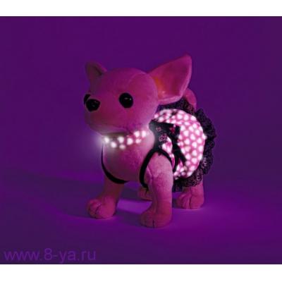 99121 Собачка Чихуахуа Чи Чи в светящемся платье с сумочкой и пледом Chi Chi Love Simba