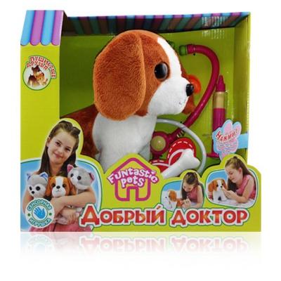 99101R Пушистые друзья. Мягкая игрушка щенок с аксессуарами для лечения