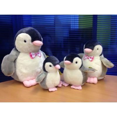 """*PA0000 Набор игрушек Семья Пингвинов """"Розовые лапки"""" 15, 13, 20, 26 см"""