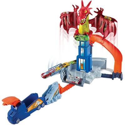 990338 Игровой набор Битва с драконом Hot Wheels Mattel