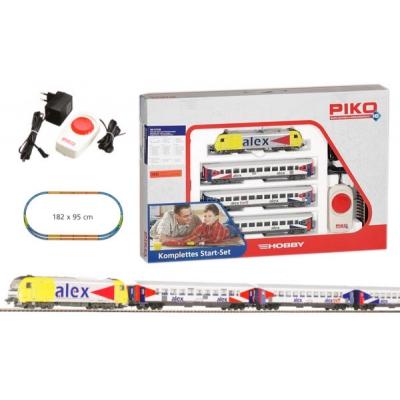 99696 PIKO Стартовый набор , пассажирский состав Alex, аналоговый