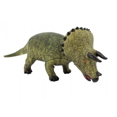 *РЕ0066  Динозавр Трицератопс зеленый 53 см, из каучука с мягкой набивкой