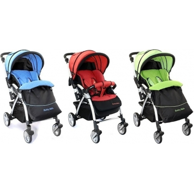 99740 Коляска прогулочная Active Jekky Kids Blue Green Red