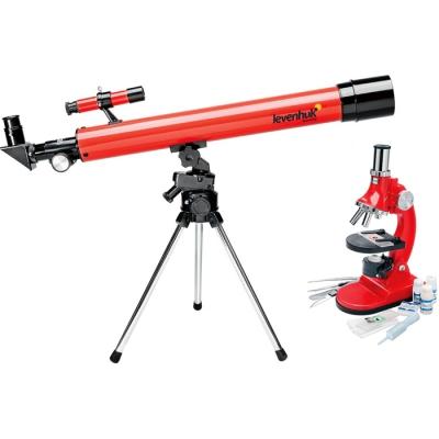 99685 Детский набор Команда Фиксики: телескоп и микроскоп + набор для опытов Levenhuk